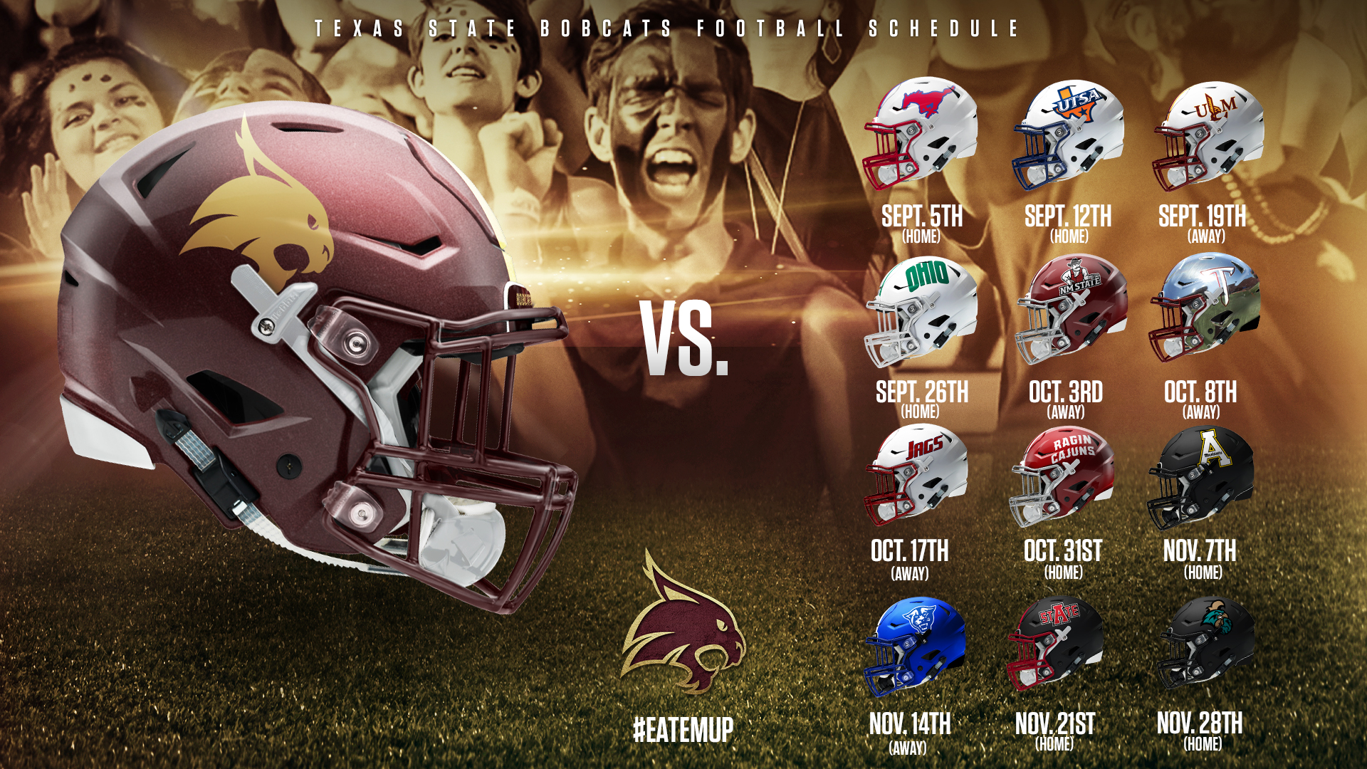 Sun Belt Conference Announces Texas State S 2020 Football Schedule Texas State Athletics